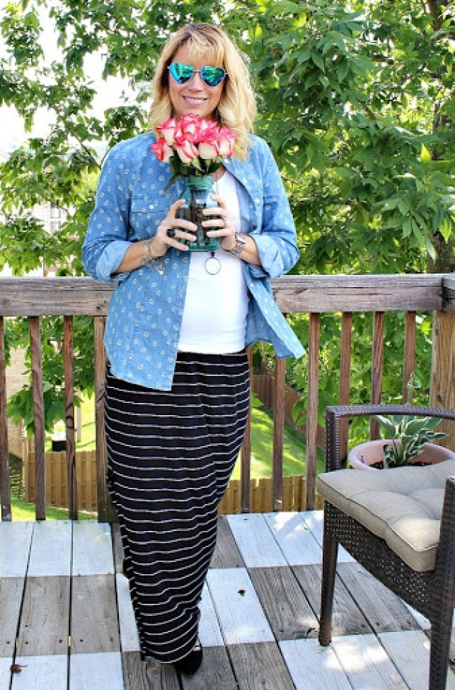 black-striped-maxi-skirt-1