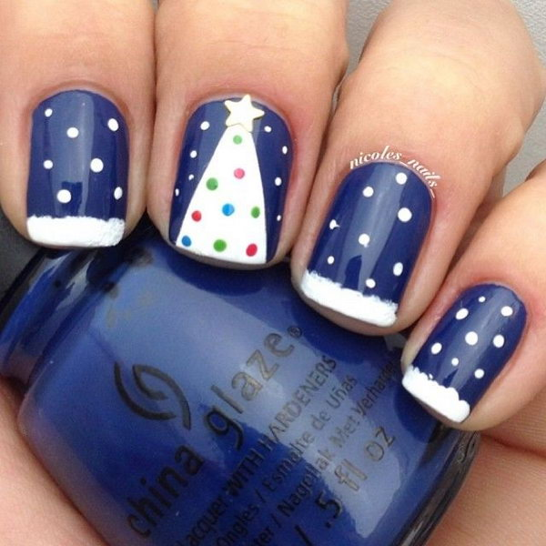 Perfect Simple Easy Christmas Nailart Designs Ideas 2016 For Beginners And Learners
