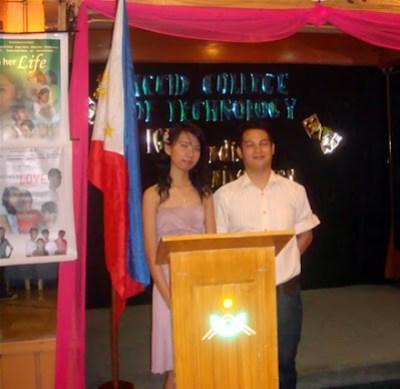 Emcees Maricar Pajaron and Rommel Isagani Rosas