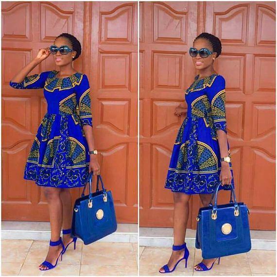 SHORT BLUE DRESS DESIGNS FOR AFRICAN WOMEN   Pretty 4