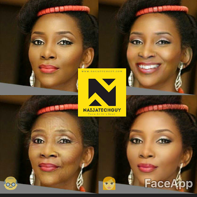 Check Out Ex President Obasanjo, Tekno, Genevieve Nnaji And Others After A FaceApp Transformation 6