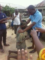 A Robber Was Caught Stealing In A Church In Warri & This Happened(Pics)