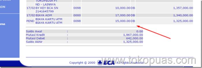 biaya bank bca