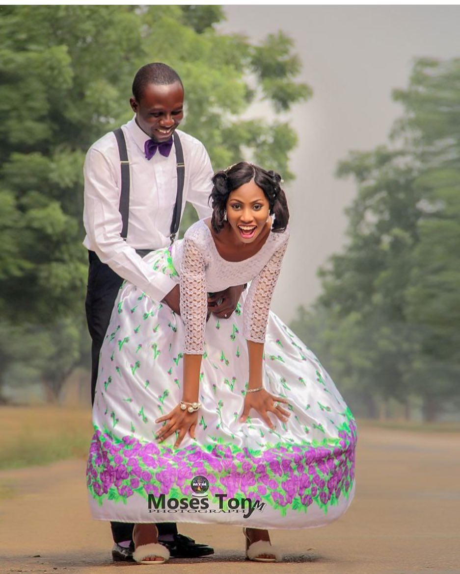 Nigerian Couple Break The Net With This Doggy Pose In Their Pre-Wedding Photos