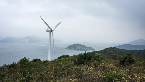 南丫風采發電站後山