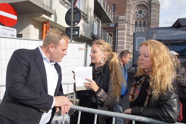 Bjorn Gevaert bij de geschreven pers van Roeselare