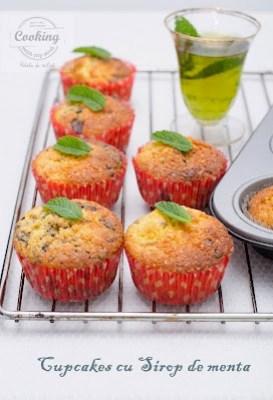 Cupcakes cu sirop de menta