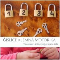 Číslice a jemná motorika - tácková montessori aktivita pro malé děti