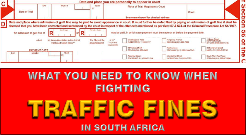 FIGHTING TRAFFIC FINES IN SA