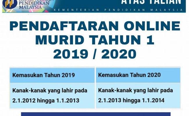 Pendaftaran Murid Tahun 1 Darjah 1 Tahun 2020 Anak Kelahiran Tahun 2013 Cute766