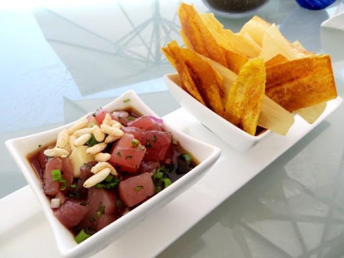 Hawaiian Ahi Tuna Ceviche - 180blu Ritz Carlton Laguna Niguel