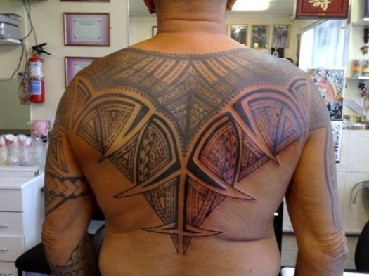 samoan tribal tattoo on back
