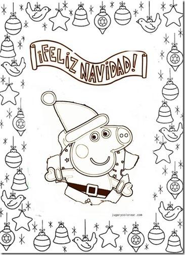 Dibujos Colorear Peppa Pig En Navidad