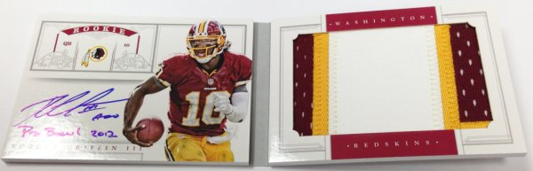 2012 Panini National Treasures Robert Griffin III Jumbo Auto RC