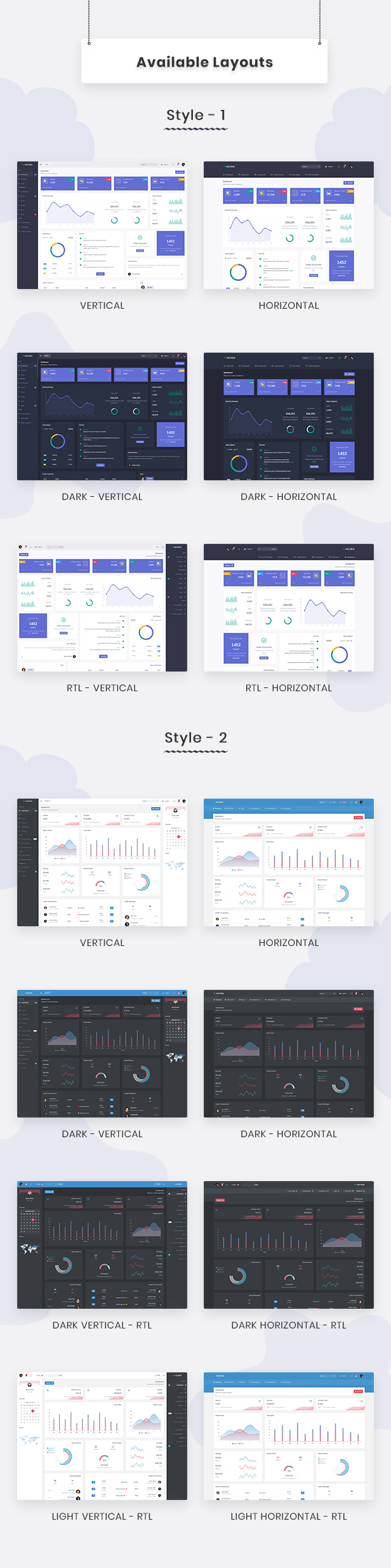 Veltrix - Admin & Dashboard Template - 3