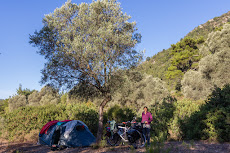 Wild camping just after Bodrum.