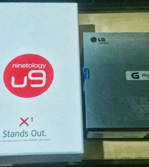 The Ninetology U9X1 is almost double the size of the LG Optimus' box, despite the LG being much bigger in real life.