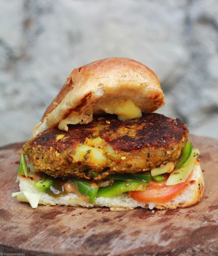 Veggie Patty Subway Sandwich Recipe | Classic Subs | Step by step recipe for Veggie Patty Sub | Indian Subway Sandwiches | Written by Kavitha Ramaswamy of Foodomania.com