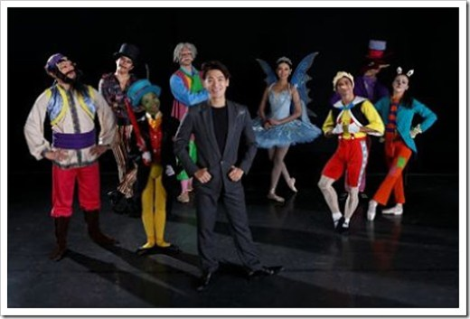 Ballet Manila Co-Artistic Director and Pinocchio  choregrapher Osias Barroso with the main cast of the ballet