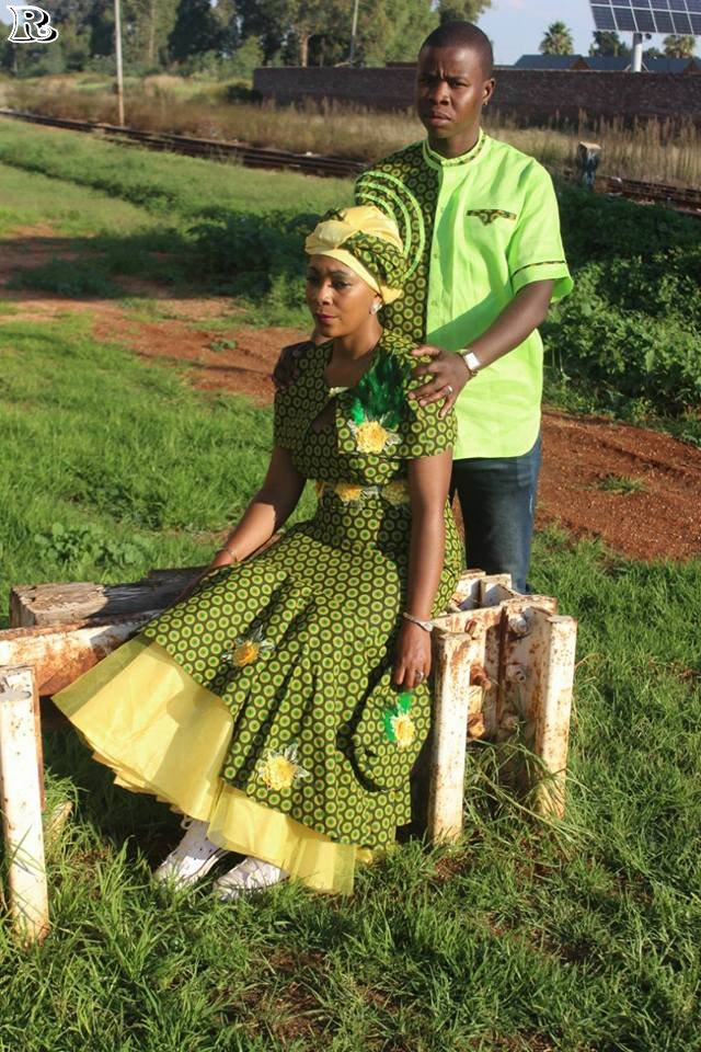 Top Green Shweshwe Dresses For 2018 Reny Styles