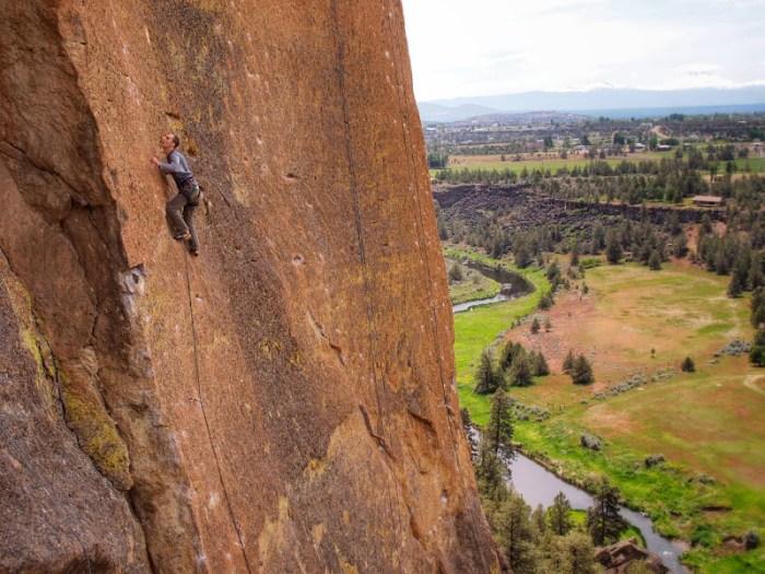 Climbing in Smith Rock