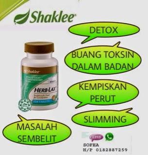 herb-lax shaklee-cara untuk kempiskan perut-detoks secara semulajadi