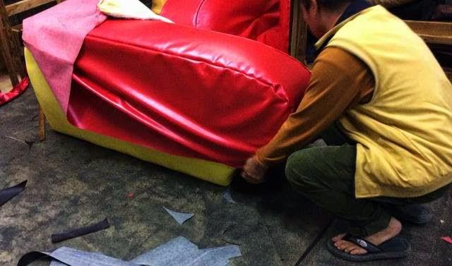 合成皮沙發