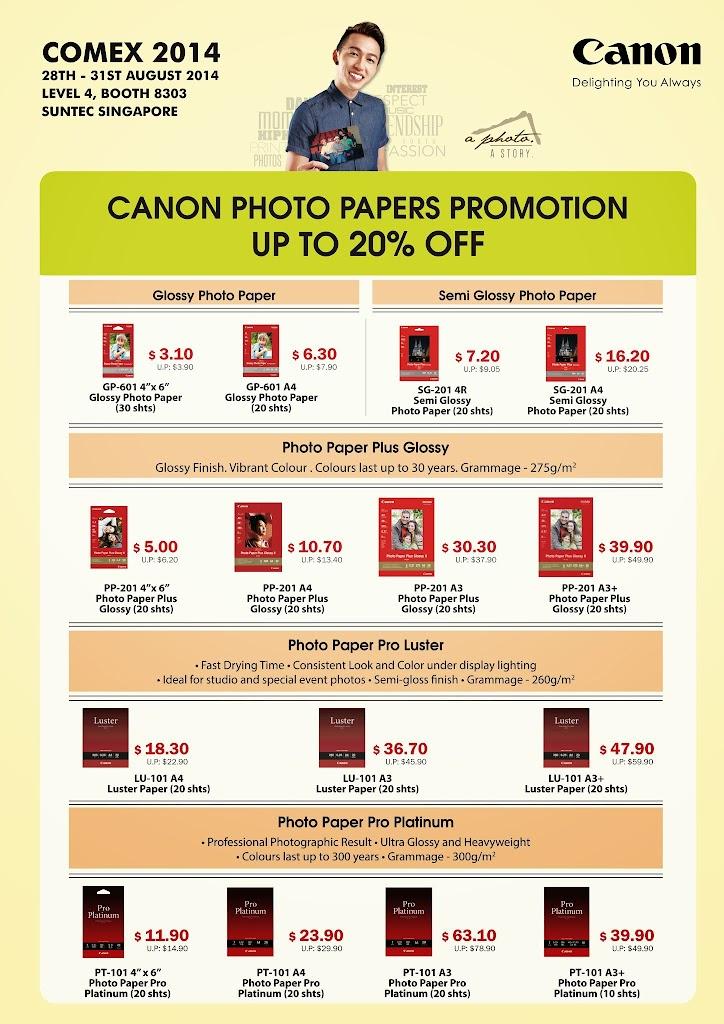Canon Paper COMEX 2014