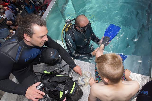 duiken in duiktank Roeselare
