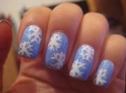 amazing snowflake nail arts
