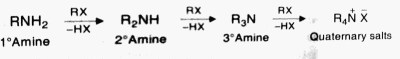 chemical properties of amines, reaction of alkyl halide and amine