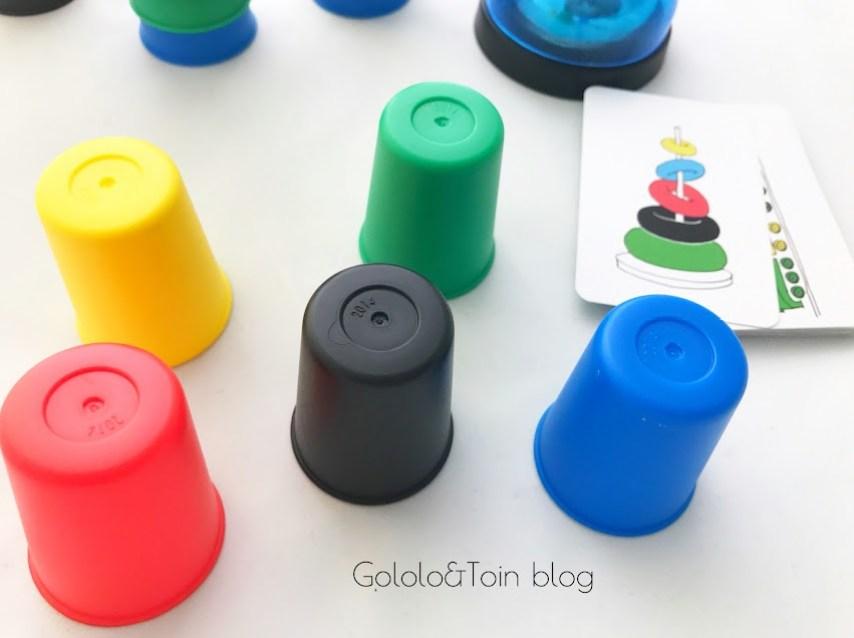 Speed Cups juego de mesa para niños que mejora la atención
