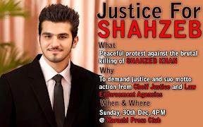 Shahzeb Khan Protest