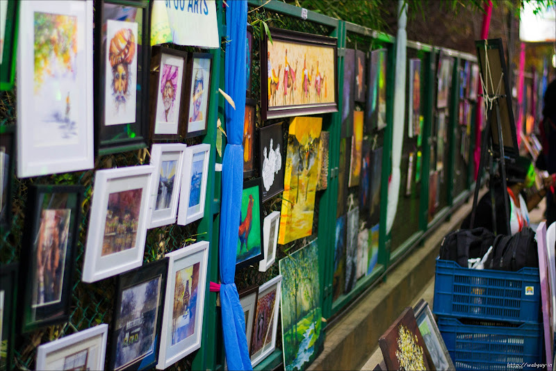 Paintings for display - Open Streets, Bangalore