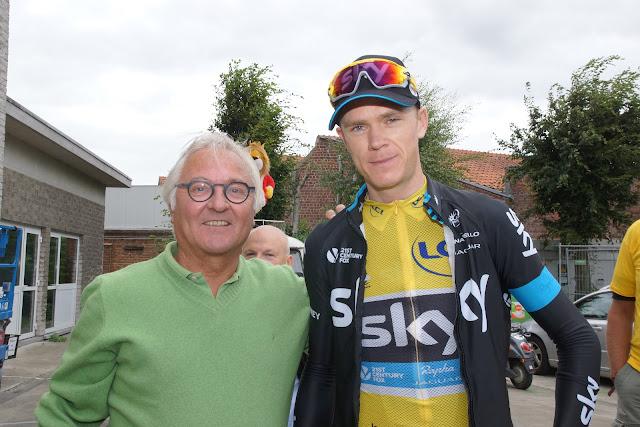 Rein Van Waeyenberghe bij Chris Froome