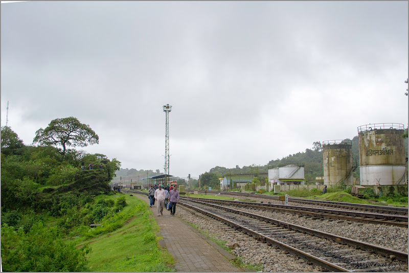 The tracks at Castle Rock - Doodhsagar Trek