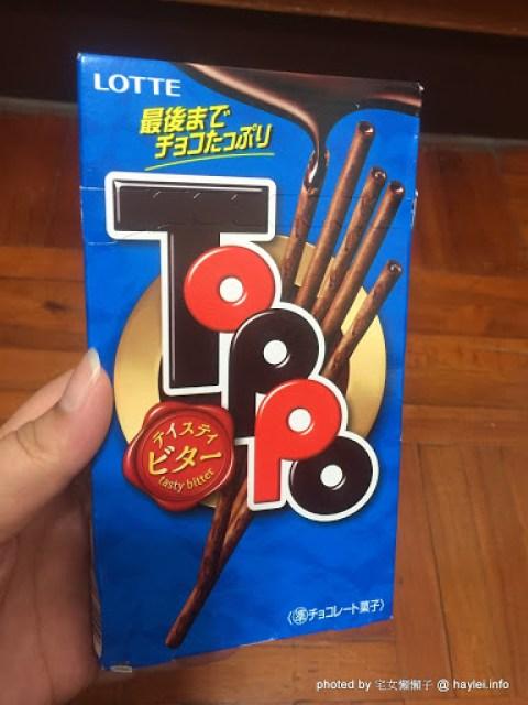 零食心得分享~LOTTE TOPPO巧克力棒-微苦 宅配食記 飲食集錦