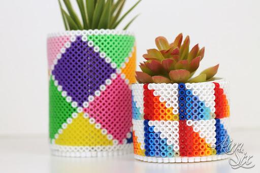 pearler bead succulent planter  [ 1200 x 800 Pixel ]