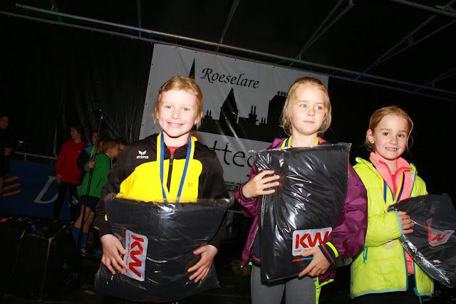 podium meisjes 750 meter kidsrun