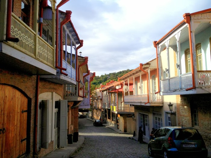 The streets of Signaghi, Kakheti region