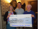 Una Treacy - Tullys pictures receiveing Chequre on behalf of Una Treacy.jpg