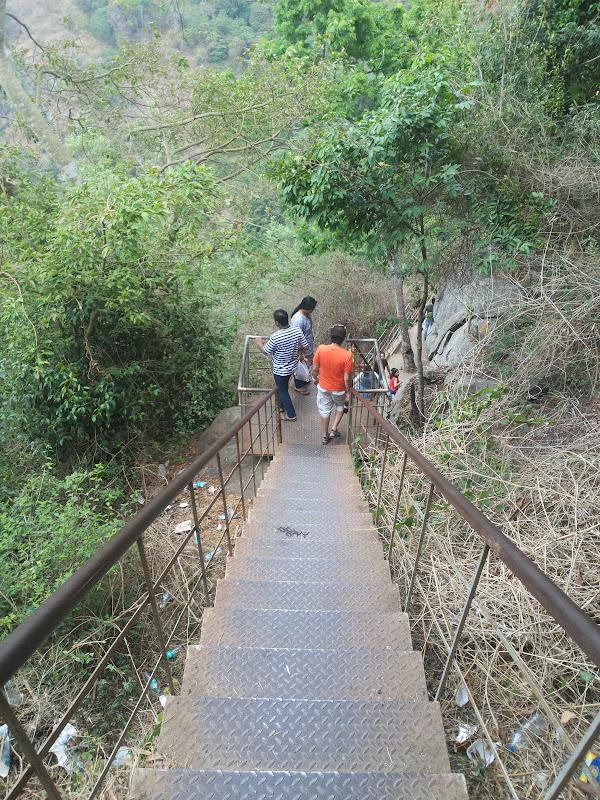 The Steep walk to the Kiliyur Falls, Yercaud