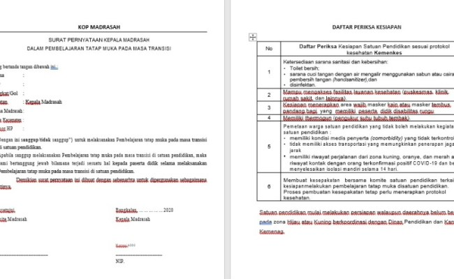 Contoh Surat Pernyataan Kepala Sekolah Kesiapan Pembelajaran Tatap Muka Surat Pendataan Persiapan Tatap Muka Surat Pernyataan Pada Dasarnya Dibuat Untuk Memperkuat Pernyataan Lisan Agar Memiliki Payung Hukum