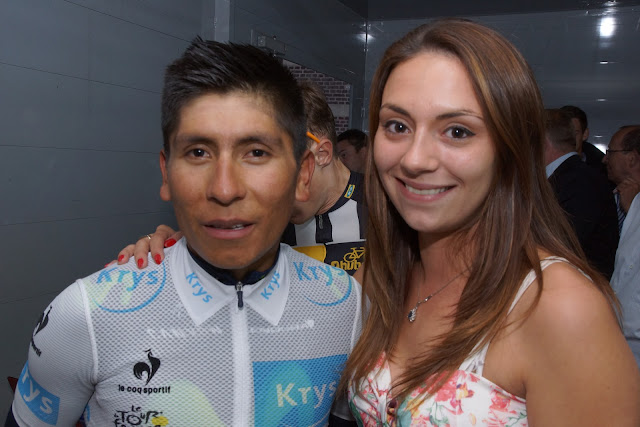 Laura Santy en Nairo Quintana