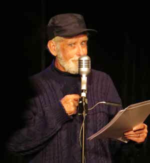 Robin Queree as Spike Milligan in The Goon Show LIVE!