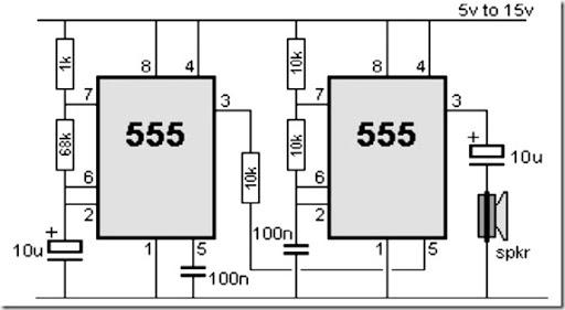 simple 555 alarm sound circuit eleccircuitcom