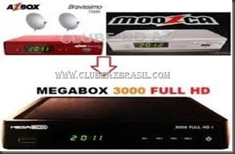 ATUALIZAÇÃO MOOZCA E AZBOX BRAVÍSSIMO TRANSFORMADO EM MEGABOX 3000