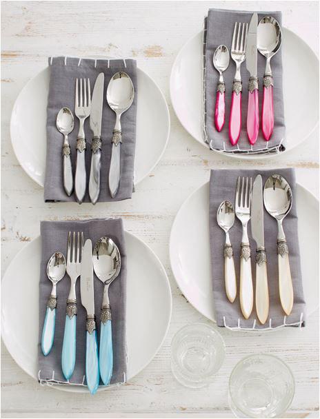 Idea para los cubiertos en la mesa
