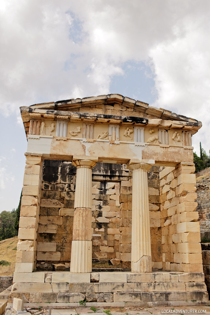 The Treasury of Athenians Delphi Greece.