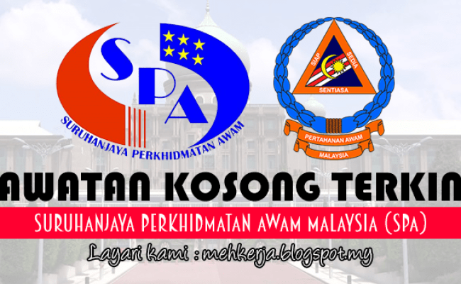 Jawatan Kosong Di Suruhanjaya Perkhidmatan Awam Malaysia Spa 29 Jan 2017 27 Kekosongan Cute766
